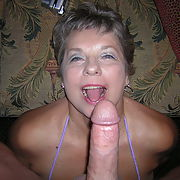 Big tit granny loves cock and cum