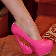 barbys new pink stiletto shoe's