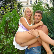 Horny milf baring all outdoors and at home in lingerie