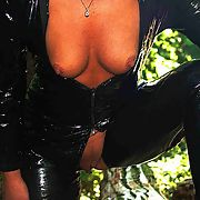 Anna gets fucked in PVC in the woods near St Albans by three of us