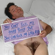 Hairy male pussy posing for all guys with a camera