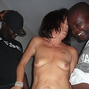 Mature woman interracial sex with some African males and others
