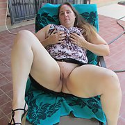 My pussy on the patio for all to see and enjoy