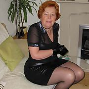 I am Cathy a dirty Blowjob Slut Granny Tight Shiny Rubber Skirt Slut & Shiny Black Stockings