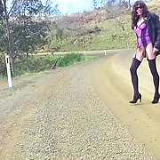 Cross dress walk - country road trip