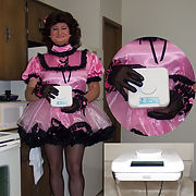 Maid Teri - Sissy Maid posing in her Prissy Sissy Gemima Adult Dress