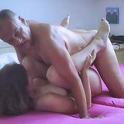 Pornstar Moana and porn actor Cane in a new porn action