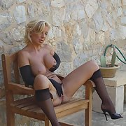 sexy FRENCH MILF busty erotic pics wearing her finest lingerie