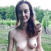 Hairy freckled exhibitionist wife outdoor sex