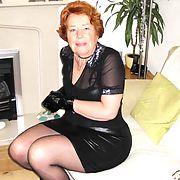 Cathy Shiny PVC Skirt Slut Anal Porn Granny