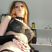 Sexy wife wearing fishnet lingerie