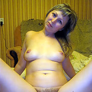 Blonde and Hairy Wife Anna Gets Naked