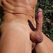 My hairless penis outdoor full erect and flaccid, no pubic hairs, smooth for ever