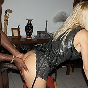 A shared blonde wife having fun with her hubby and black lover