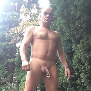 Large cock ring in public and at sauna