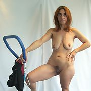 Whore keeps in shape for her clients