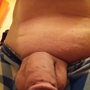 My cock shaved sometimes with a hard on sometimes normal