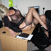 Never had secretary's like this in my day see through lingerie hot