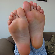 My Wife Yvonne's sexy Feet if turnon come on her face if you like