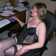 My wife Debra she loves to play here she is in lingerie