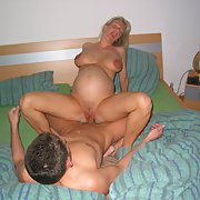 Pregnant wife screwing one of her fuck buddies cuckold