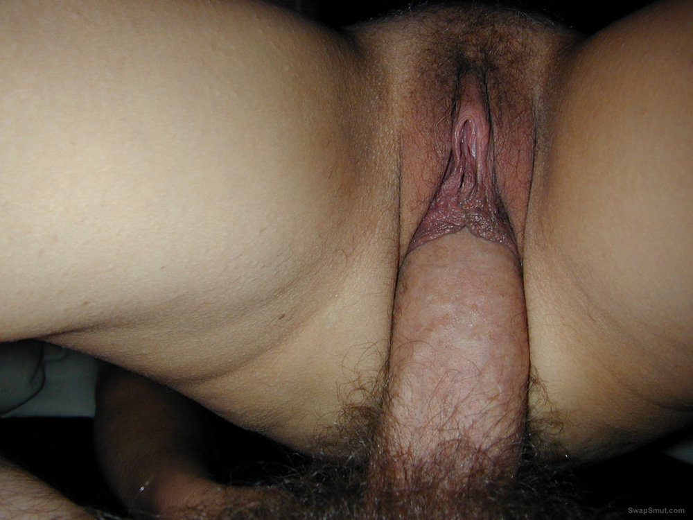 My wife's BIG pussy lips full of cum after dumping a load of jizz