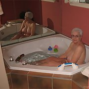 Granny Bathtime viewing for you see her washing her body