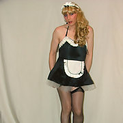 Jojo being naughty as a french maid cross dresser male amateur