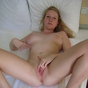Naked busty girlfriend giving me the come on