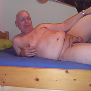 Prins Albert pierced dick of old man