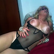 Mature blonde bitch in lingerie wanting hot sex