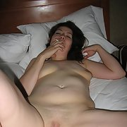 Smoking milf Jessica with a creamy wet pussy