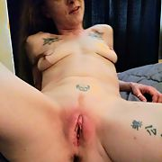 My redhead Wife's beautiful puffy pussy