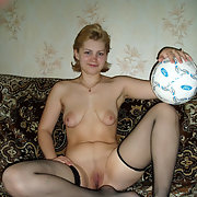 Oksana Has a Ball in Her Hot Black Lingerie