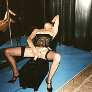 Shanell on stage in a swinger club