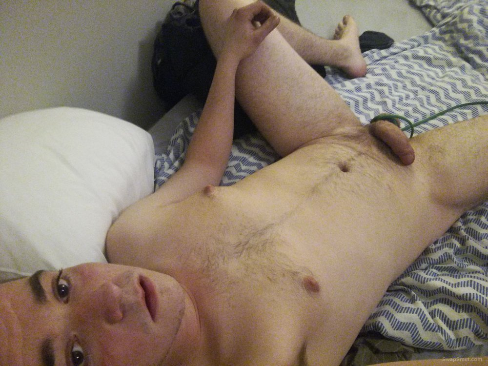 Slave boy exposing his ass and stretching balls
