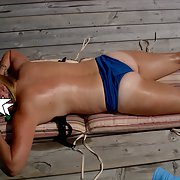 Lovely milf wife loves to get naked in the great outdoors