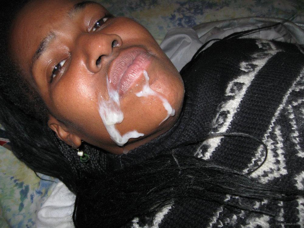 black pussy and cumshot facial spunk pics