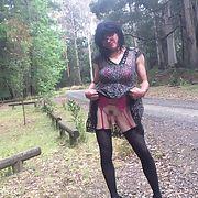 Cross dress walk - country road walk