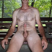 Just Me getting naked in the park turning myself of with big erection