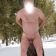 My dick and my ass exposed in the snow