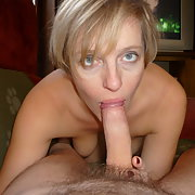 Erica horny wife giving oral sex and showing body relaxing at home