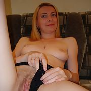 Amateur blonde wet pussy wearing lingerie