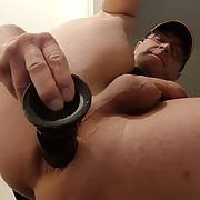 Loving to stretch my boi pussy