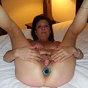 MILF Diane Inserts a Butt Plug into Her Luscious Ass
