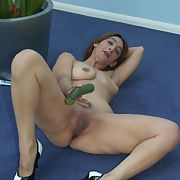 Mature slut sold into whoring and has some time off on her own