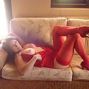 Part 2, My new red nighty for show and tell while on vacation, the lost photos