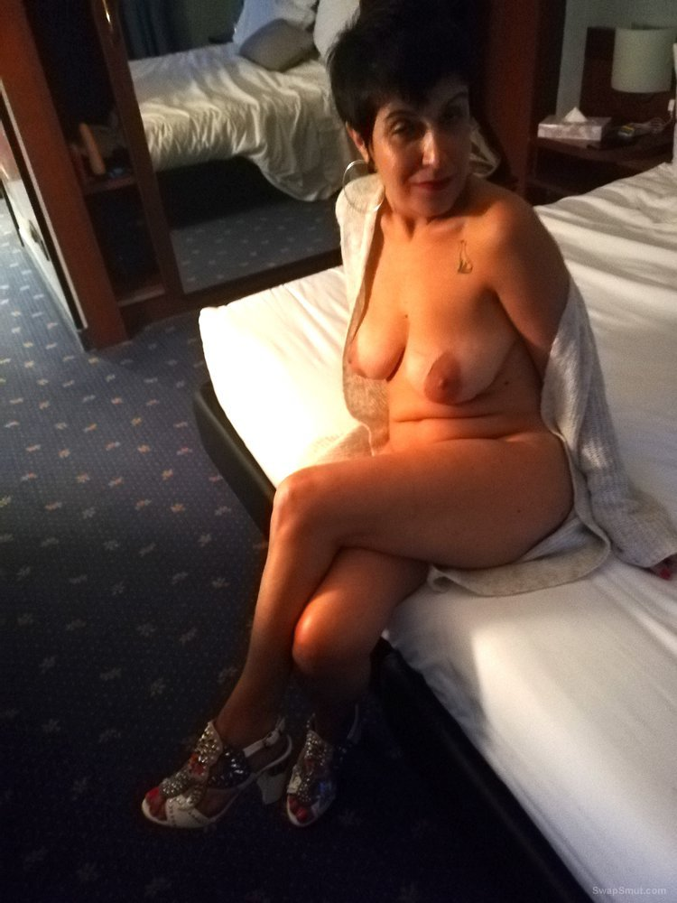 White whore slut wife with big natural boobs