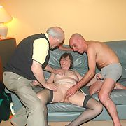 Triple treat for old bi friend as he watches Ann and Tony having carnal sex