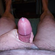 Love the feel of my cock when I am playing and ejaculating